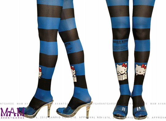 Hello Kitty Blue Avantgarde Tattoo Tights