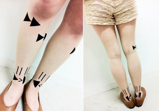 Cowpooooop Fast Forward Arrows Tattoo Tights