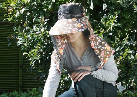 Obachan Mosquito Net Gardening Hat