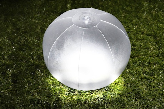 Green House Beach Ball Inflatable Waterproof LED Solar Lantern