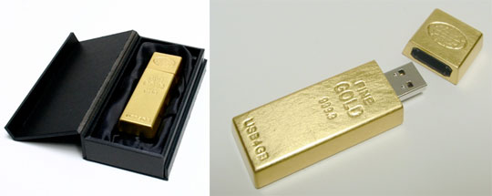 Gold Ingot USB Stick
