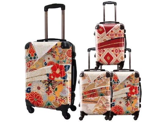 Japanese Flowers Art Suitcase