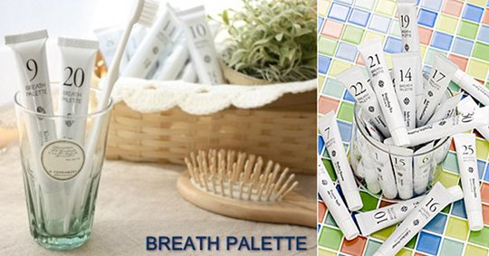 Breath Palette Flavored Toothpastes Full Pack