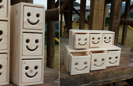Nicot Wood Drawers Set