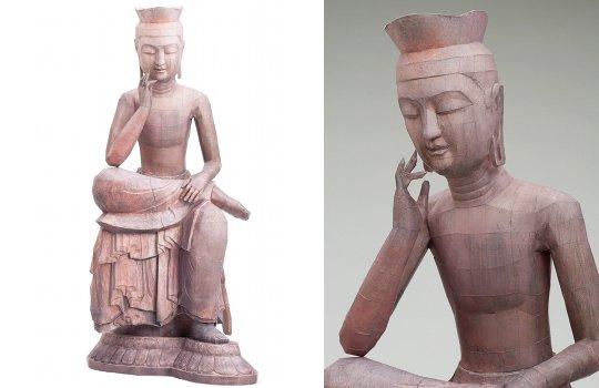 Miroku Bosatsu Maitreya Bodhisattva Papercraft Model