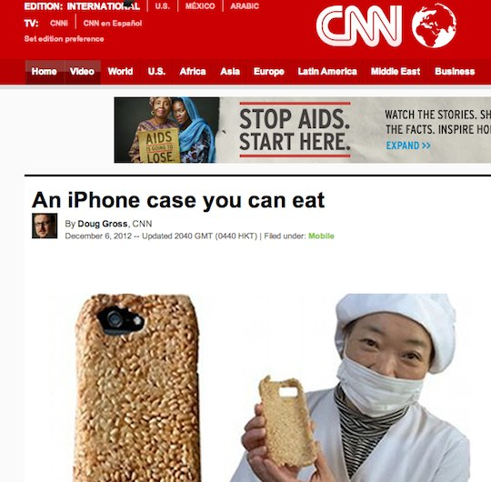 cnn survival senbei iphone case