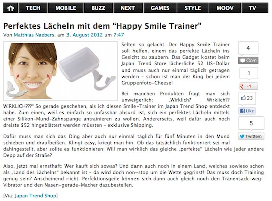 gizmodo de happy smile trainer