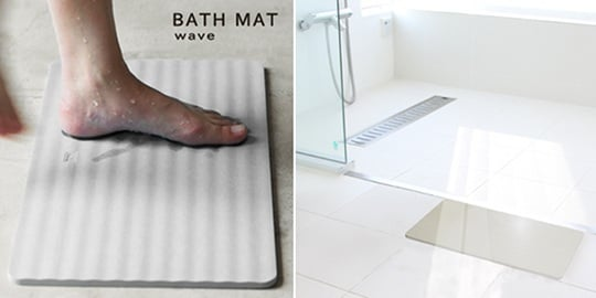 Keisodo Soil Diatom Bath Mat Wave