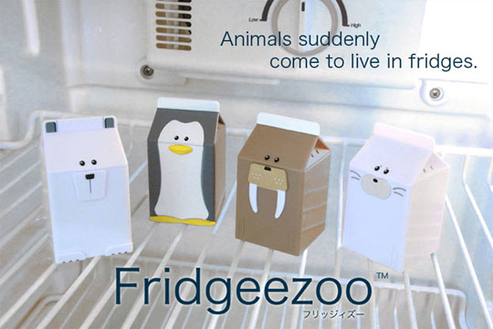 Fridgeezoo Talking Animal Milk Cartons