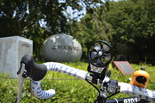 Bicycle Handlebar Portable Wind-Powered Generator Lamp