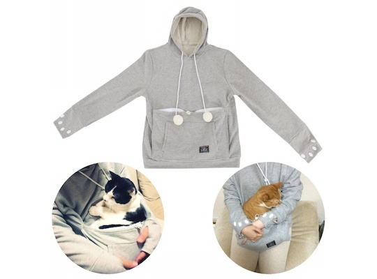 Mewgaroo Hoodie Pet Pouch Sweatshirt Large Size (no ears)