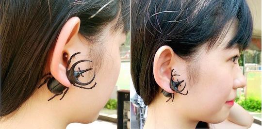 Japanese Rhinoceros Beetle Earring