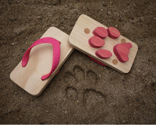 Ashiato Animal Footprint Kids Sandals