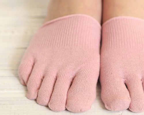 Tabio Anti-Odor Five Toe Half Socks