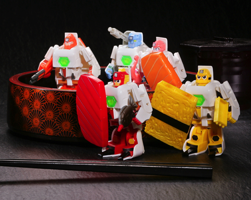 Sushi Transformers Sentai Squadron Schallyders Syrariders Set