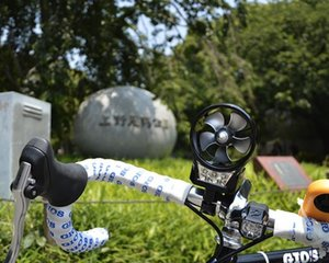 Bicycle Handlebar Portable Wind-Powered Generator Lamp
