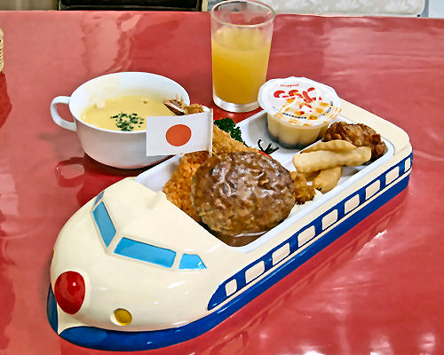 Blue Shinkansen Children's Lunch Tray