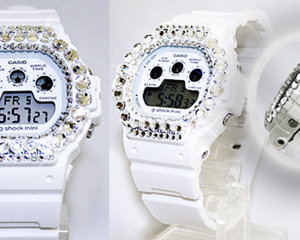 Casio G-Shock Mini GMN-591-7JR-W01 Bling Watch