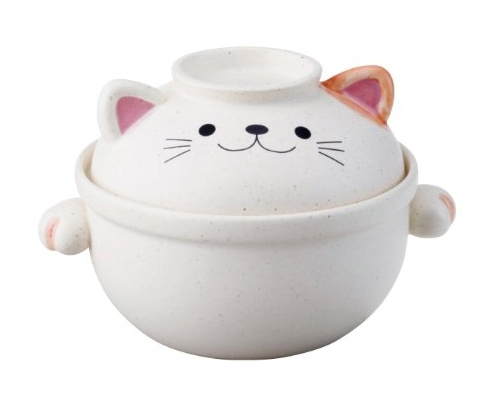 Cat Donabe Earthenware Cooking Pot