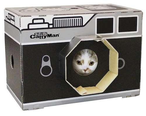 Catty Man Camera Cat Scratch Box