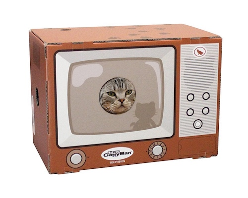 Cat Television Scratch Box