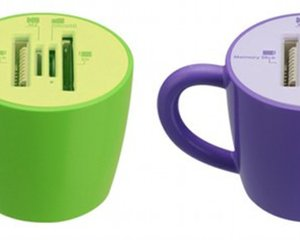 Coffee Mug Cup Data Card Reader Writer