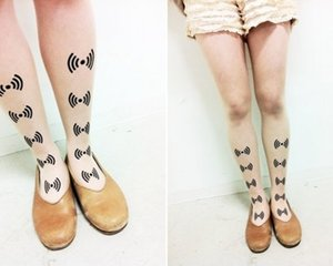 Cowpooooop Wi-Fi Tattoo Tights