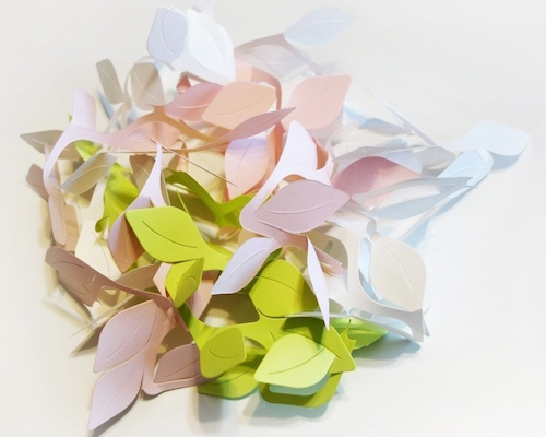 Cushion-san Leaves Origami Giftwrapping Set