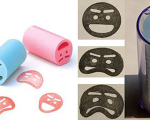 3 Pack Face Stamp emotional rubber stamp
