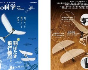 Gakken Ornithopter Entomopter Flying Bird Plane Model