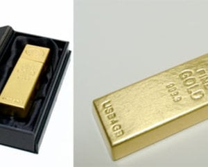 Carte Mémoire USB lingot d'or