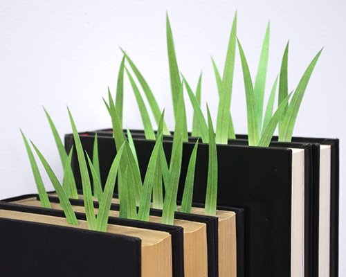 Green Marker Grass Sticky Notes Bookmark