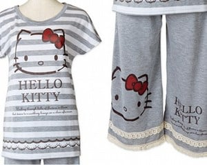 Hello Kitty Room Wear Striped Clothes