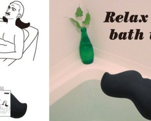 Hige Mustache Bath Pillow