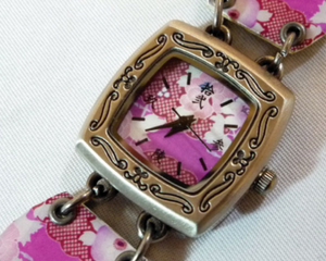 Japanese Floral Watch Bracelet