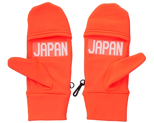 Japanese Olympic Committee Asics Fleece Mittens