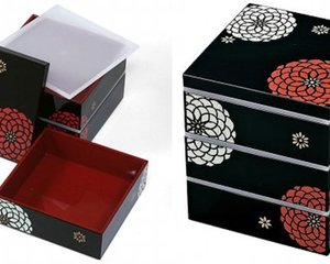 Three-Tier Japanese Hyakka Bento Lunch Box