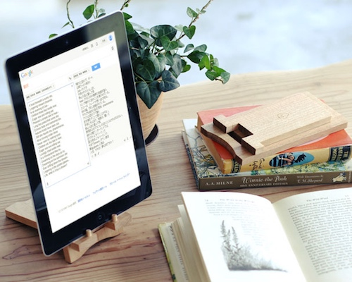 Wooden iPad Reading Stand