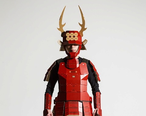 how to make a cardboard samurai helmet