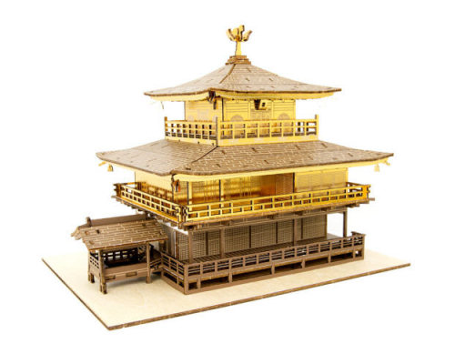 Ki-Gu-Mi Kinkakuji Golden Pavilion Wooden Color Model
