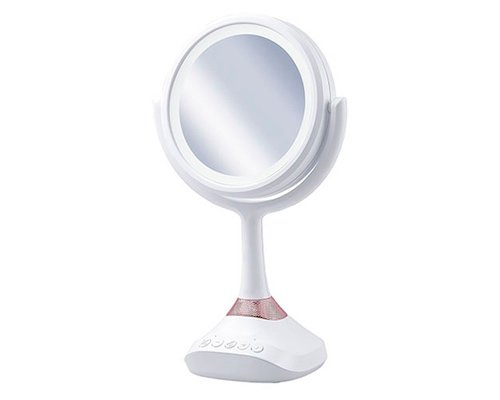 Koizumi Magnifying Glass Mirror with Bluetooth Speaker