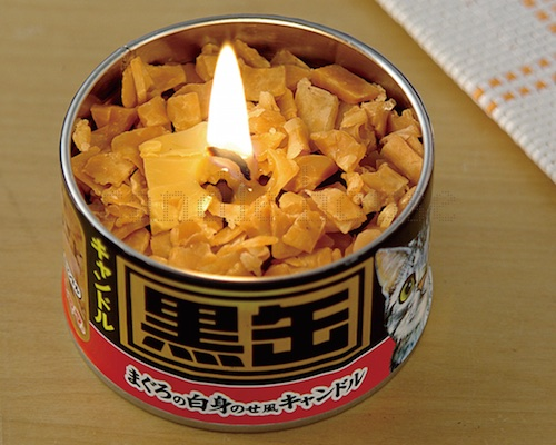Kurokan Cat Food Can Candle
