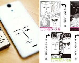 Kusutto Manga Face Stickers