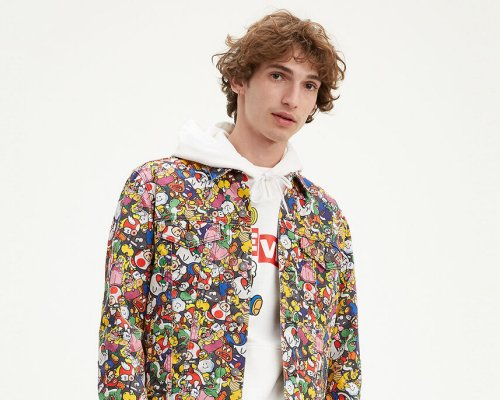 Levi's X Super Mario Vintage Fit Trucker Jacket SM Collage