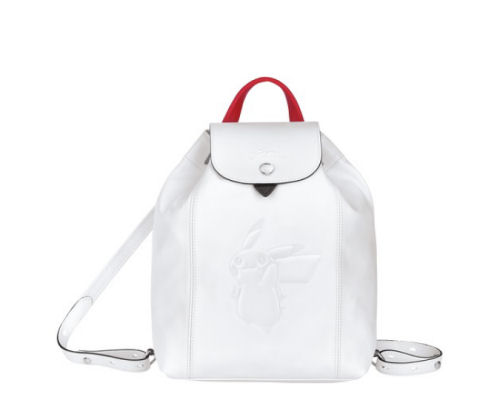 Longchamp Pokemon Backpack White