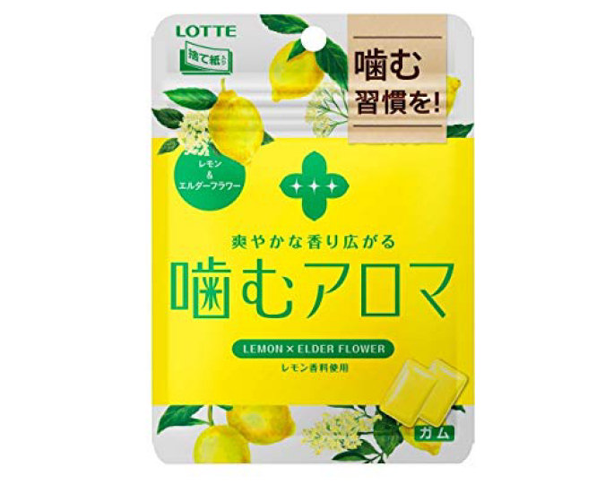 Lotte Lemon & Elderflower Gum (Pack of 6)