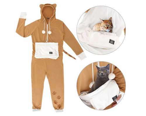Mewgaroo Tabby, Calico Cat Jumpsuits