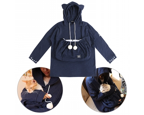 Mewgaroo Hoodie Pet Pouch Sweatshirt Large Pocket Version