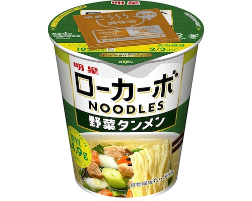 Myojo Low-Carb Noodles Instant Vegetable Tanmen (Pack of 12)