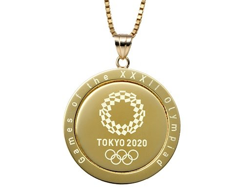 Tokyo 2020 Olympics & Paralympics Official Gold Pendant
